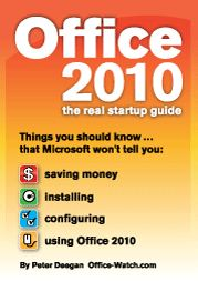 OIT cover small - Available on Kindle: Office 2010: the Real Startup Guide