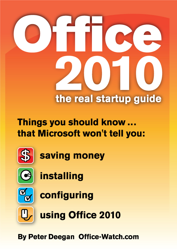 Office 2010 the real startup guide fandeluxe Image collections